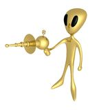 Alien With Lasergun Royalty Free Stock Image