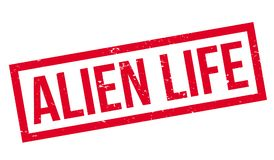 Alien Life rubber stamp Royalty Free Stock Photography