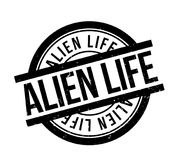 Alien Life rubber stamp Stock Image