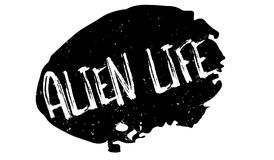 Alien Life rubber stamp. Grunge design with dust scratches. Effects can be easily removed for a clean, crisp look. Color is easily changed royalty free illustration