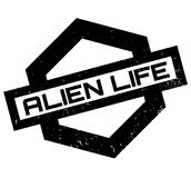 Alien Life rubber stamp. Grunge design with dust scratches. Effects can be easily removed for a clean, crisp look. Color is easily changed vector illustration