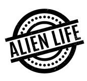 Alien Life rubber stamp Stock Photo