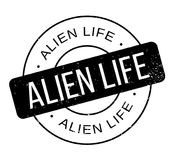Alien Life rubber stamp. Grunge design with dust scratches. Effects can be easily removed for a clean, crisp look. Color is easily changed stock illustration