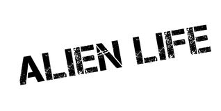 Alien Life rubber stamp Royalty Free Stock Photo