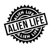 Alien Life rubber stamp Stock Photos