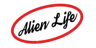 Alien Life rubber stamp Stock Photography