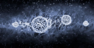 Alien Life travelling in the Universe Stock Image