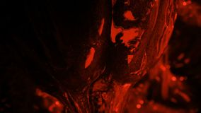 Alien Lifeform Dripping Slime In Red Light. Closeup of a gross alien being with thick slime dripping off it stock footage
