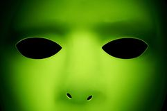 Alien Like Face. A green face that looks like an alien from Another Planet Royalty Free Stock Photos