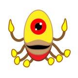 Alien-like worms, crabs, squid, Vector design elements. Stock Photos