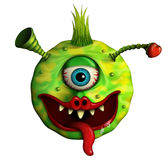 Alien love monster. 3d illustration of an alien love monster with one eye and tongue out, white background Stock Image