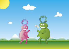 Alien love Royalty Free Stock Images