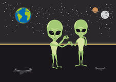 Alien love vector Royalty Free Stock Images