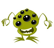 Alien with Many Eyes Royalty Free Stock Image