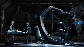 Alien medical lab Stock Photo