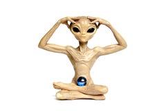 alien meditating Стоковые Изображения RF