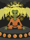 Alien meditation Stock Photo