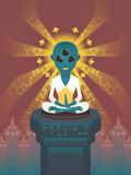 Alien meditation Royalty Free Stock Images