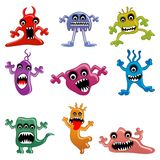 Alien and Monster. Vector illustration of collection of cartoon alien and monster Royalty Free Stock Images