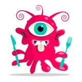 Alien - Monster or Bacillus Vector Illustration Royalty Free Stock Photo
