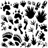 Alien monster footprints Royalty Free Stock Photo