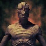 Alien monster portrait Royalty Free Stock Photography