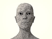 Alien monster portrait Royalty Free Stock Images