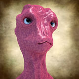 Alien monster portrait Royalty Free Stock Photography