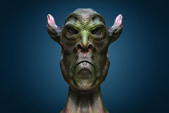 Alien monster portrait Stock Photo