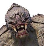 Alien Monster Portrait. Close-up portrait of an aggressive alien monster - 3D render Royalty Free Stock Image
