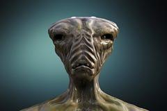 Alien monster portrait Royalty Free Stock Image
