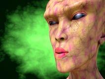 Alien monster portrait Stock Photo