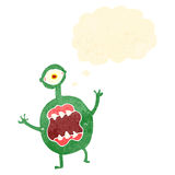 Alien monster with thought bubble Royalty Free Stock Photos