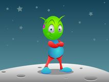 Alien on the Moon Royalty Free Stock Photography