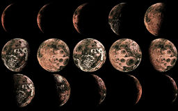 Alien moon Royalty Free Stock Images