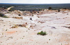 Alien moonscape Lake Mungo Australia. Lake Mungo is former inland lake now covered in strange formations Royalty Free Stock Photography