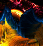 Alien Mountains with space background Stock Photography