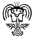Alien in native style, vector illustration Royalty Free Stock Photo