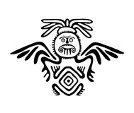 Alien in native style, vector illustration Royalty Free Stock Image