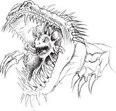 Alien Parasite Monster Sketch Stock Image