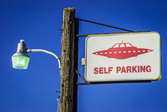 Alien parking only Stock Image