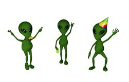 Alien party Stock Images