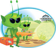 Alien Picnic Stock Images