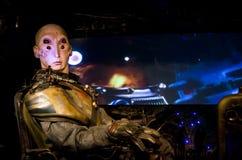 Alien pilot four eyes scifi Stock Image
