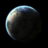 Alien Planet. An alien planet isolated on black background stock illustration