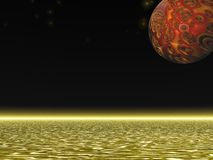 Alien Planet. 3D illustration of an alien planet and sea Stock Photo