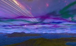 Alien Planet. Computer generated image Vector Illustration