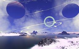 Alien Planet. Computer generated image Stock Illustration