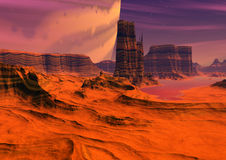 Alien planet Stock Photography