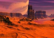 Alien planet stock photography